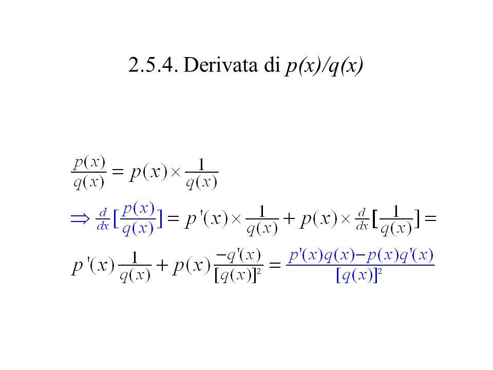 2.5.4. Derivata di p(x)/q(x)