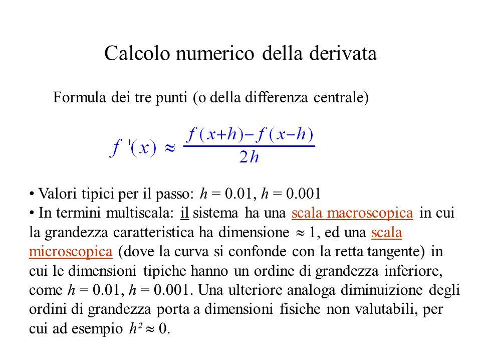 Calcolo numerico della derivata