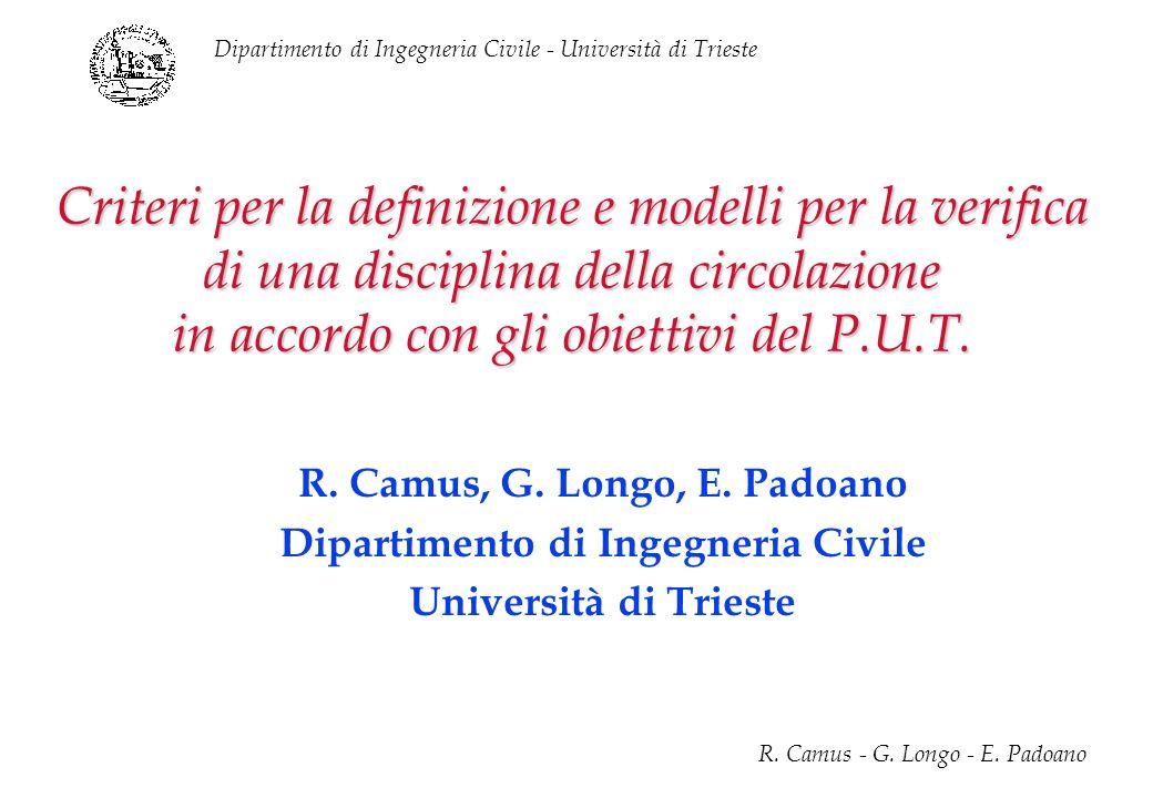 R. Camus, G. Longo, E. Padoano Dipartimento di Ingegneria Civile
