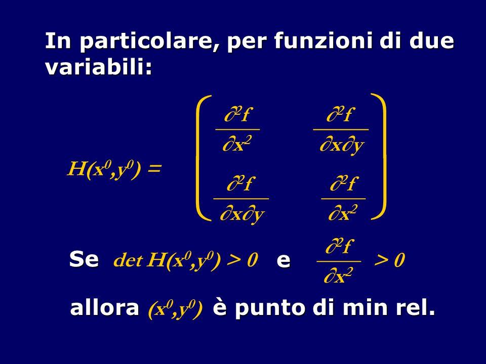     In particolare, per funzioni di due variabili: ∂2f ____ ∂x2