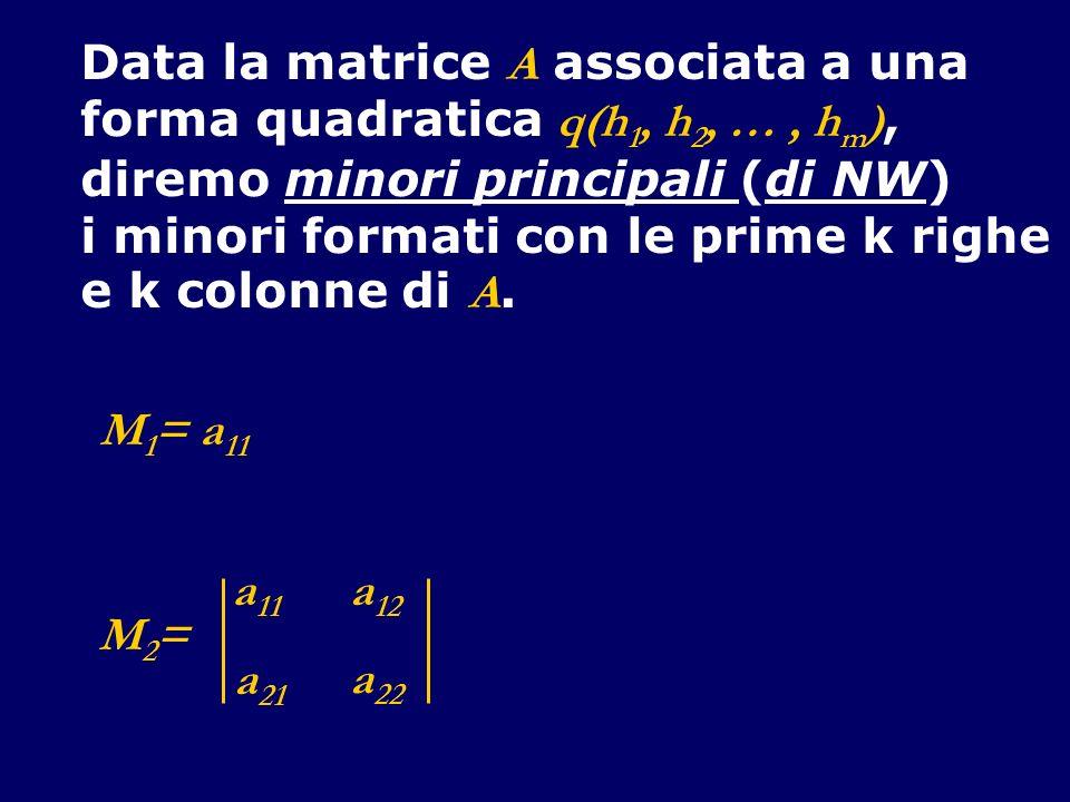 Data la matrice A associata a una