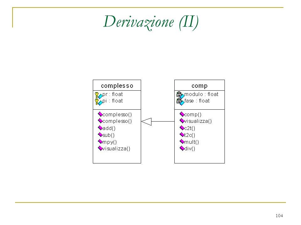 Derivazione (II)