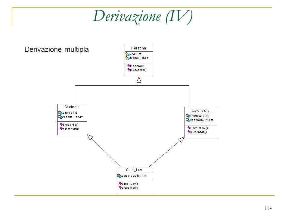 Derivazione (IV) Derivazione multipla