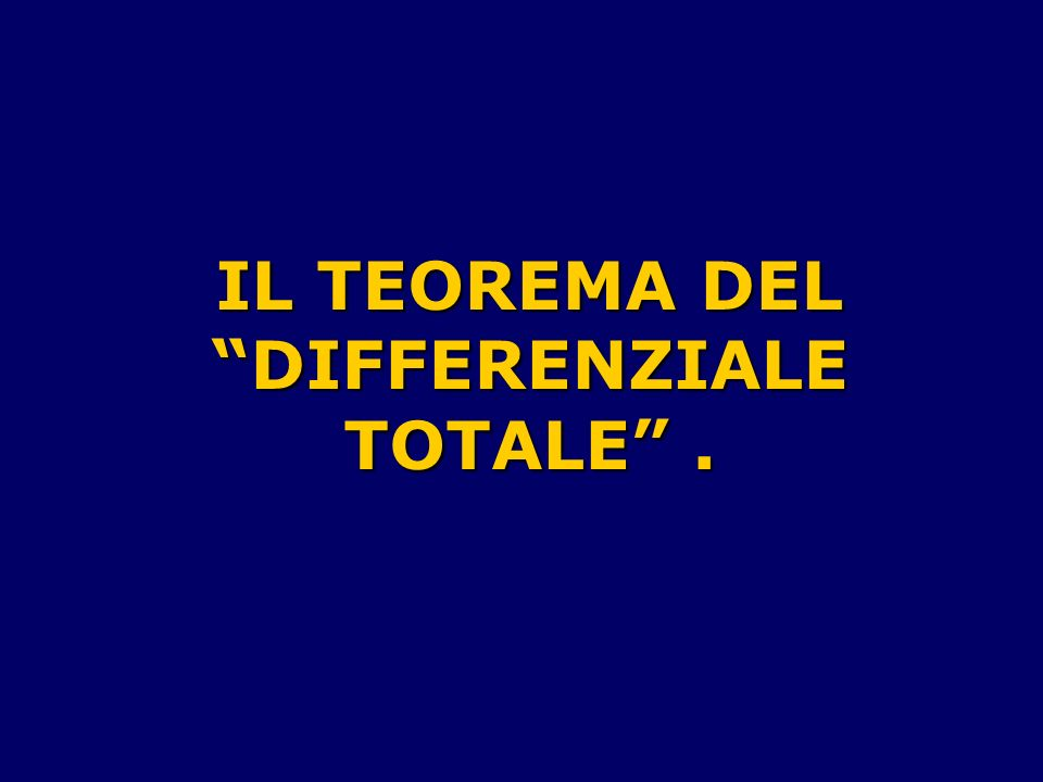 DIFFERENZIALE TOTALE .