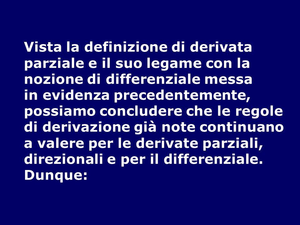 Vista la definizione di derivata