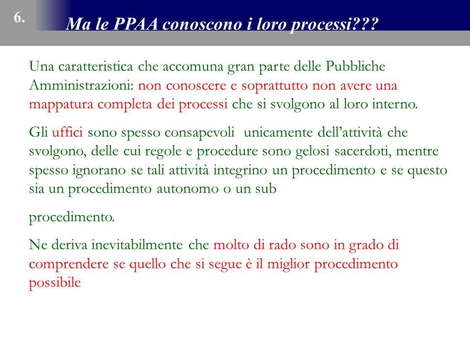 Ma le PPAA conoscono i loro processi