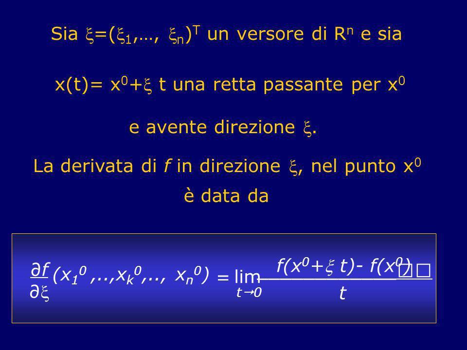 Sia =(1,…, n)T un versore di Rn e sia