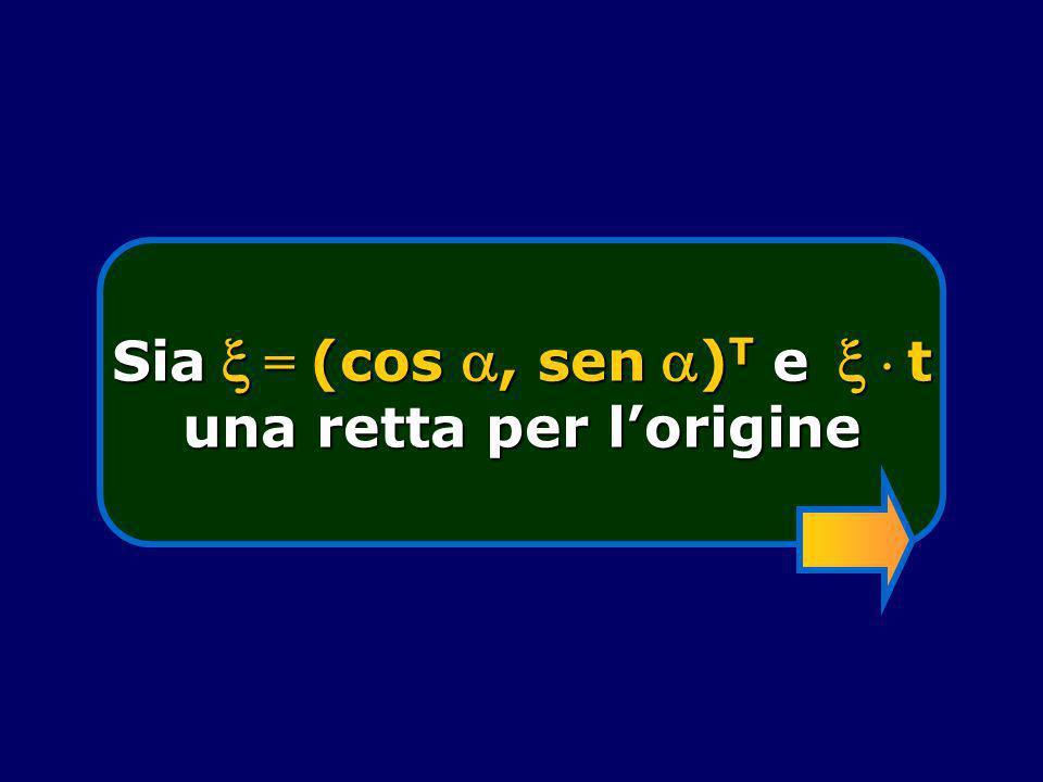 Sia  = (cos , sen )T e   t una retta per l'origine