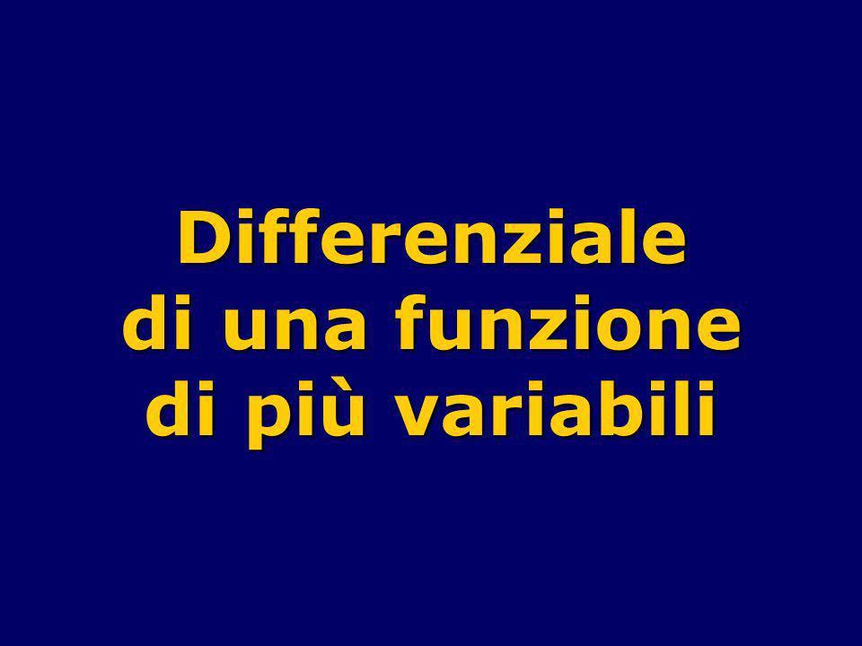 Differenziale di una funzione di più variabili