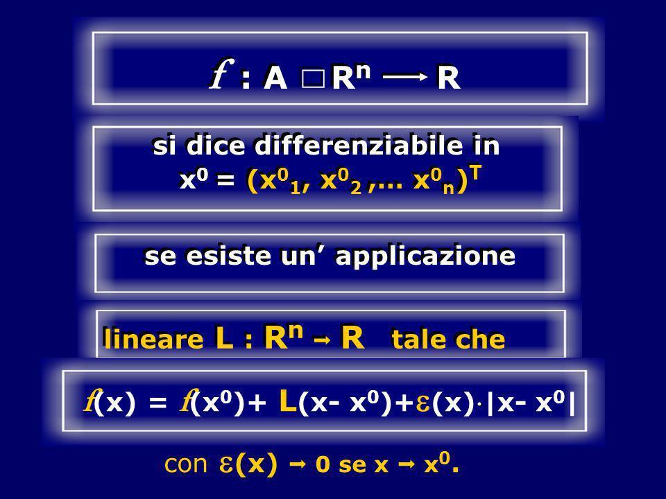 f : A Rn R Ç f(x) = f(x0)+ L(x- x0)+e(x)|x- x0|
