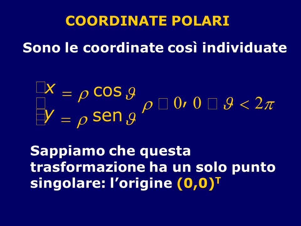 ì x cos = r J , í r ³ £ J < 2 p ï y sen î = r J COORDINATE POLARI