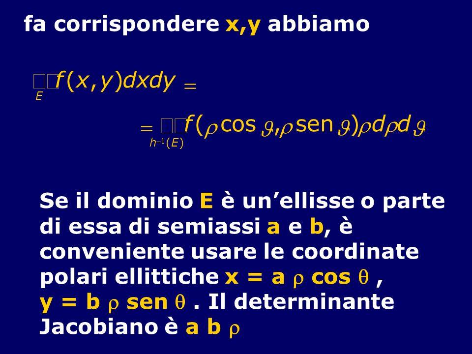 òò òò f ( x , y ) d x d y = = f ( r cos , r sen ) r d r d J J J