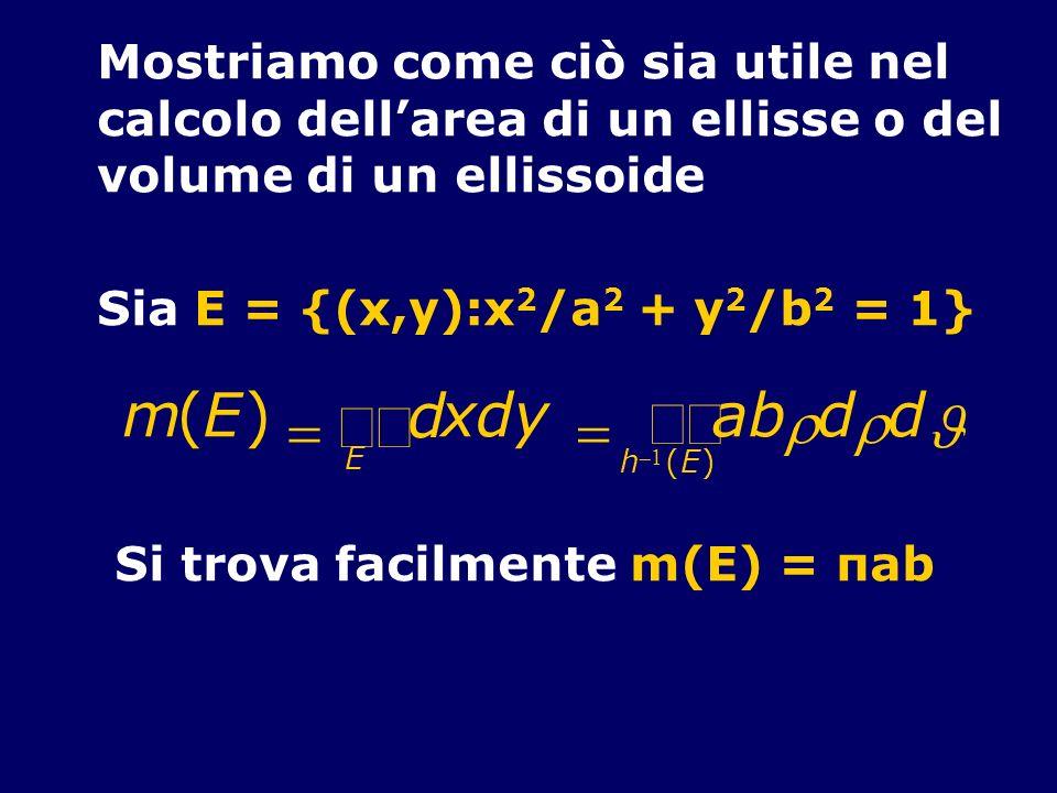 òò m ( E ) = d x y a b r J Mostriamo come ciò sia utile nel
