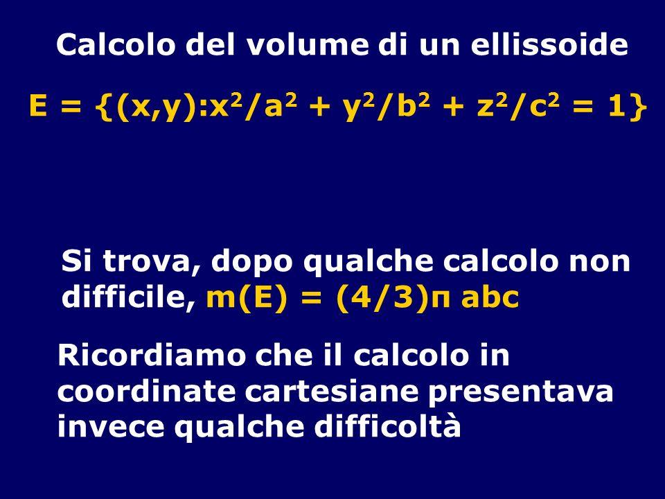 Calcolo del volume di un ellissoide