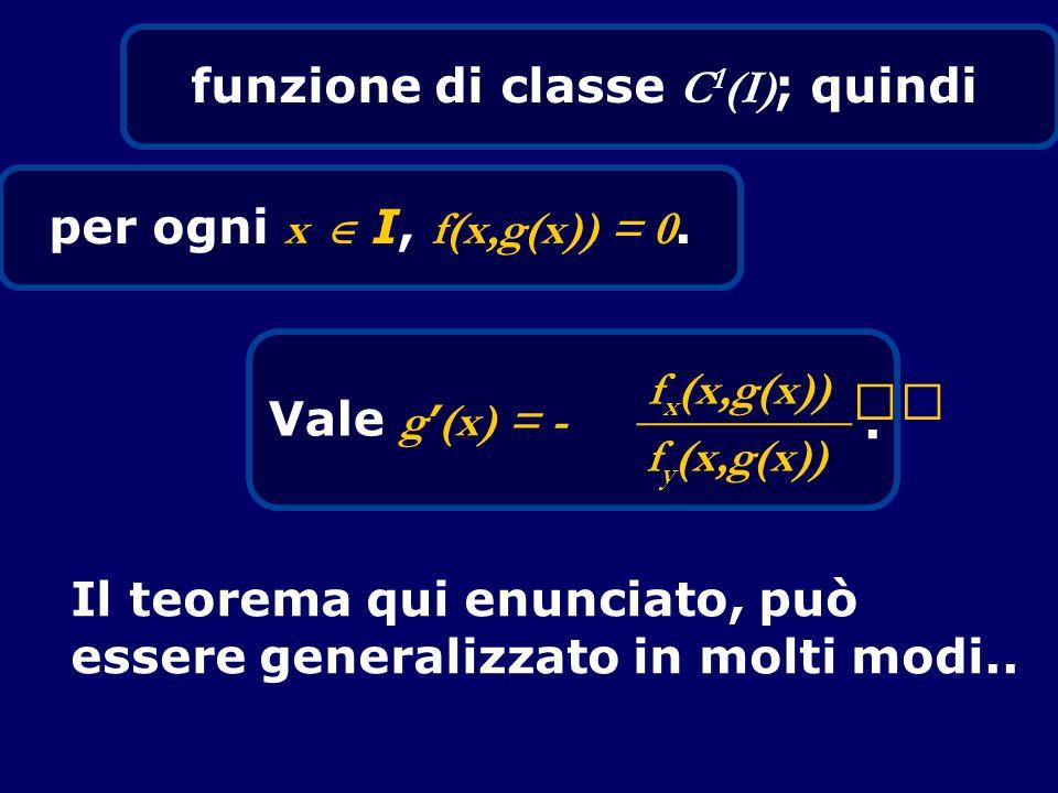funzione di classe C1(I); quindi