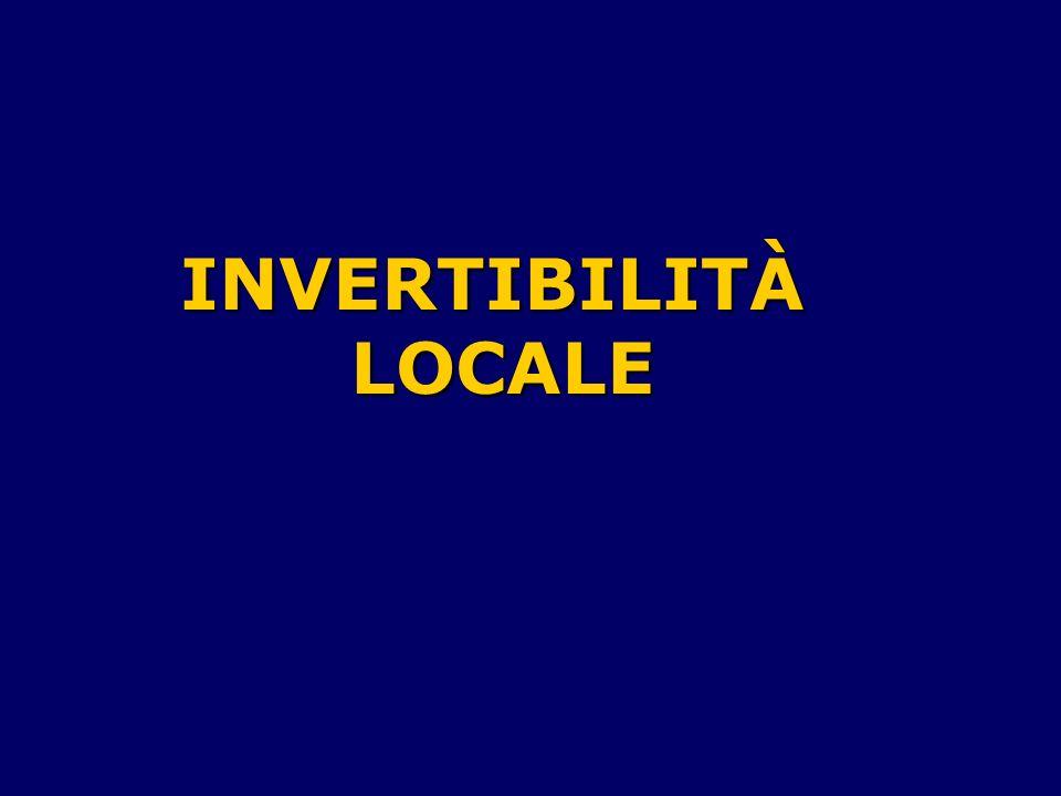 INVERTIBILITÀ LOCALE