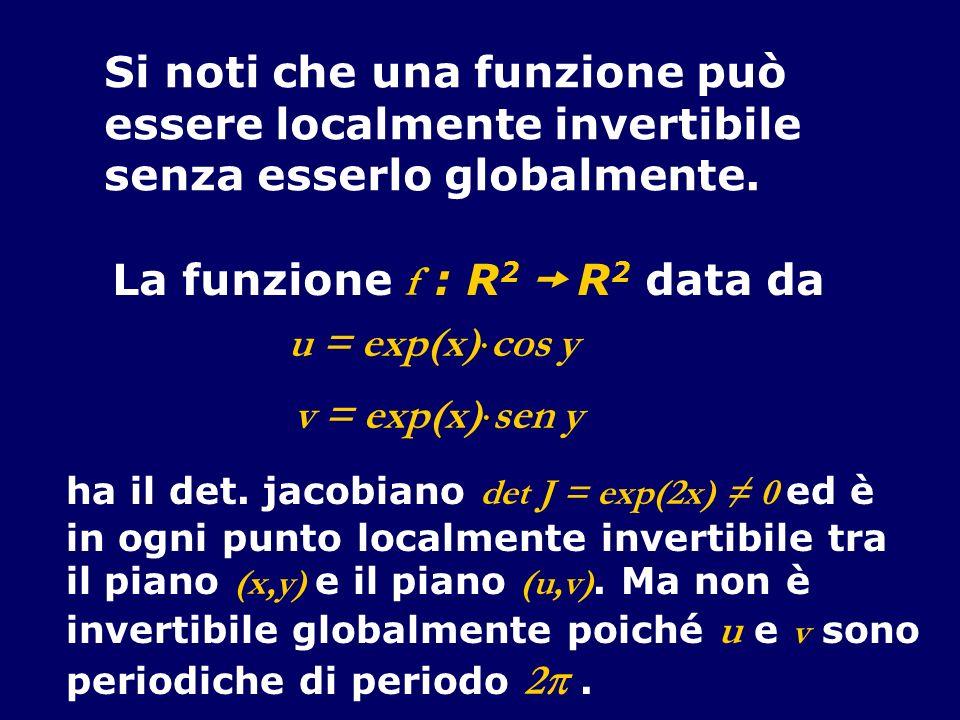 Si noti che una funzione può essere localmente invertibile
