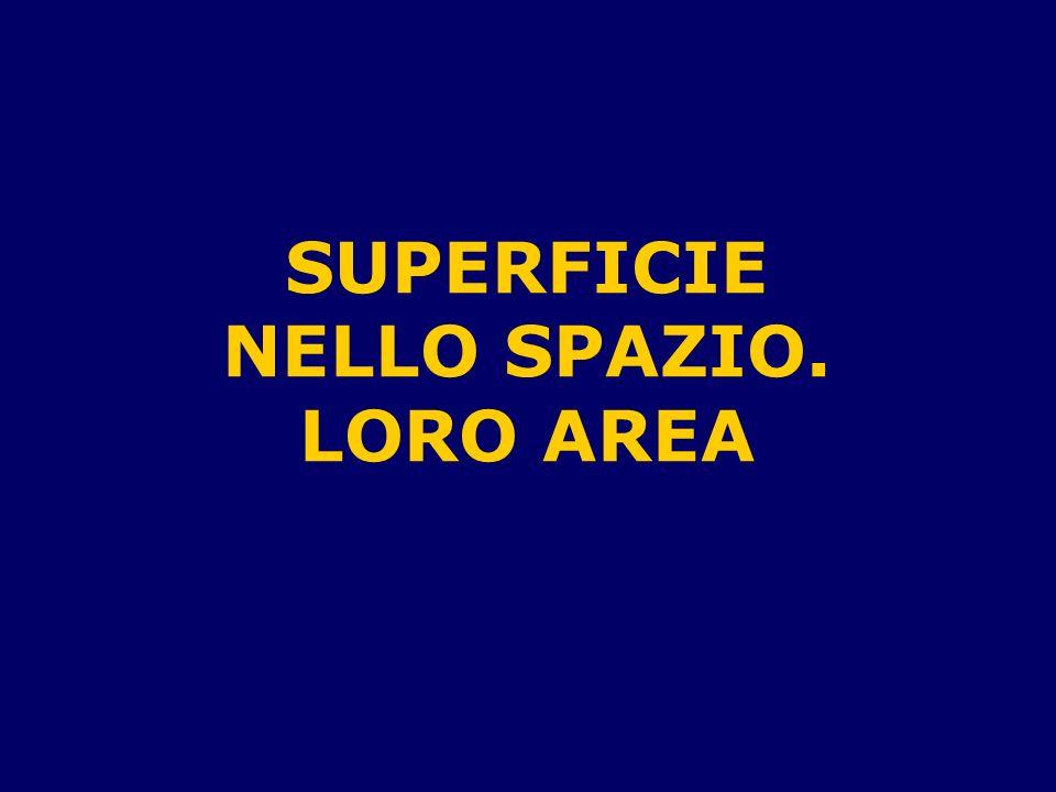 SUPERFICIE NELLO SPAZIO.