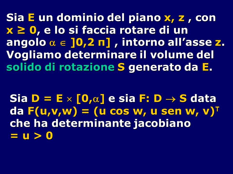 Sia E un dominio del piano x, z , con