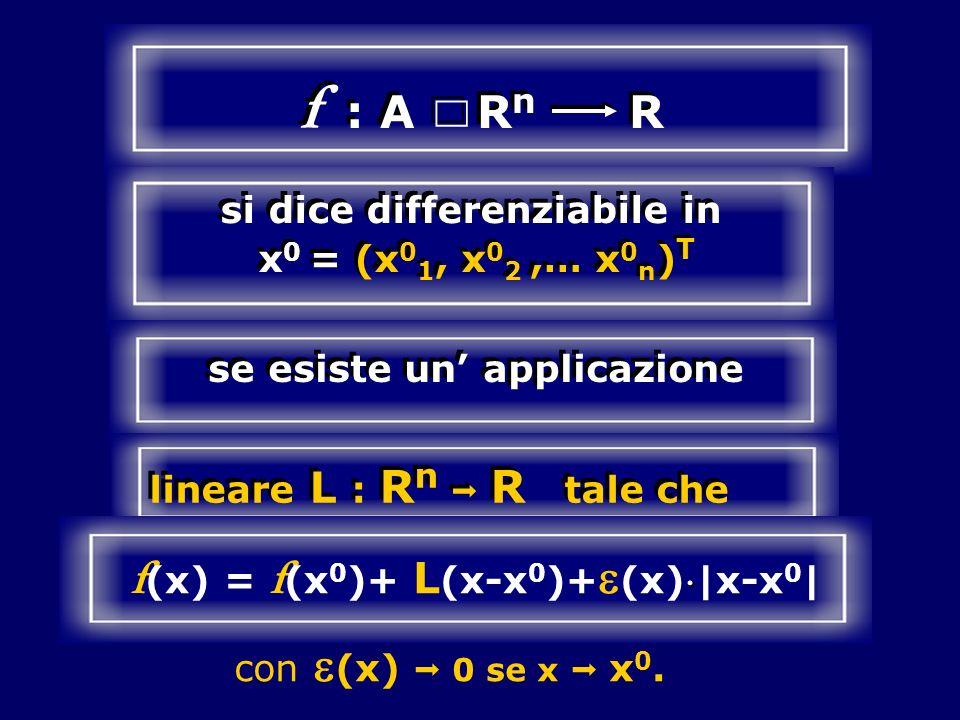 f : A Rn R Ç f(x) = f(x0)+ L(x-x0)+e(x)|x-x0|