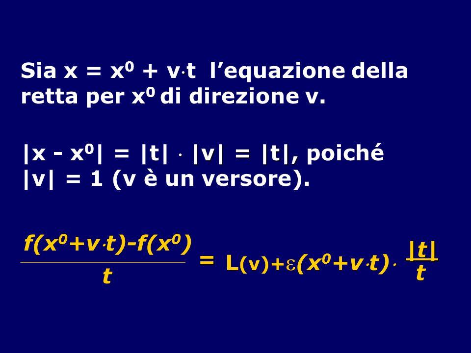 Sia x = x0 + vt l'equazione della retta per x0 di direzione v.