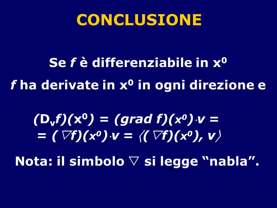 (Dvf)(x0) = (grad f)(x0)v = = (f)(x0)v = (f)(x0), v