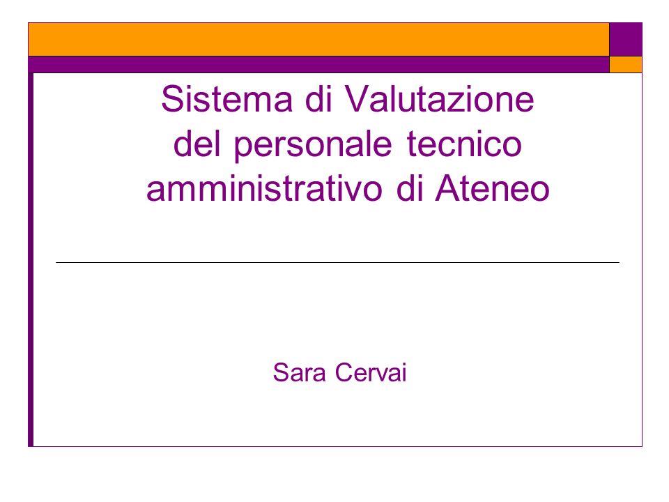 Sistema di Valutazione del personale tecnico amministrativo di Ateneo
