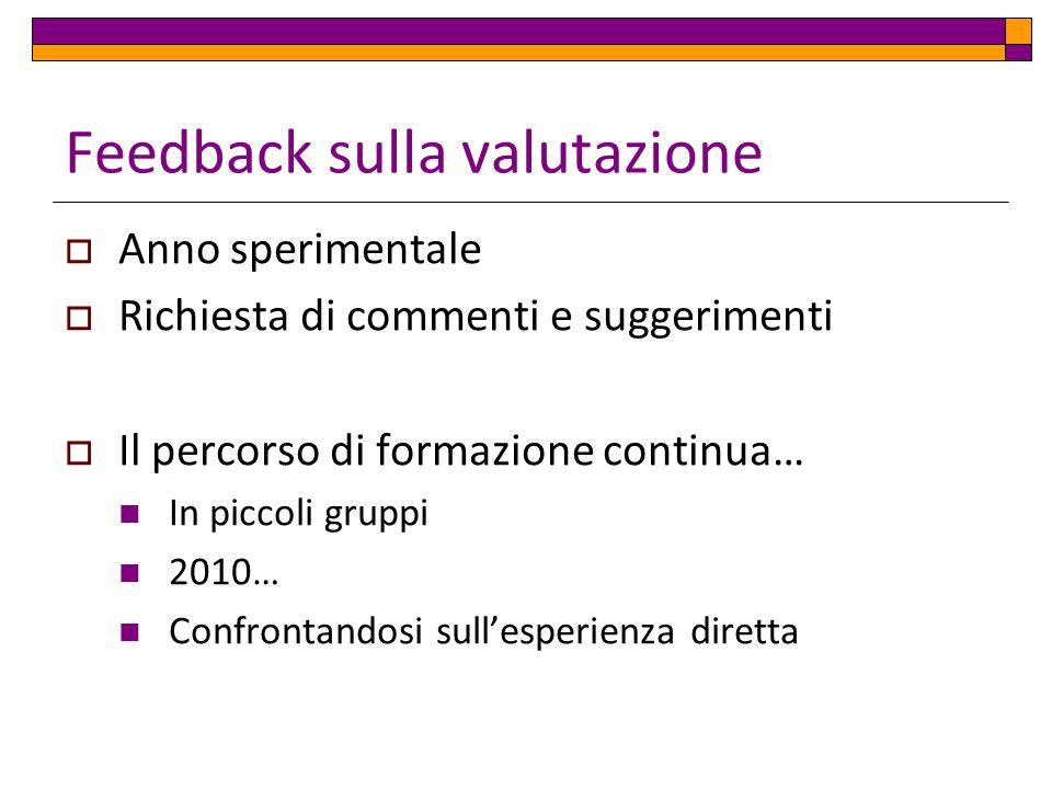 Feedback sulla valutazione