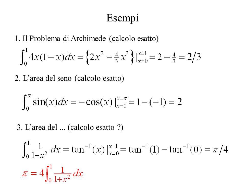 Esempi 1. Il Problema di Archimede (calcolo esatto)