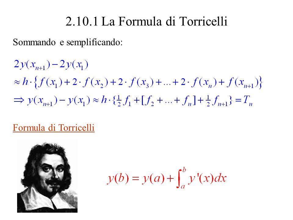 2.10.1 La Formula di Torricelli