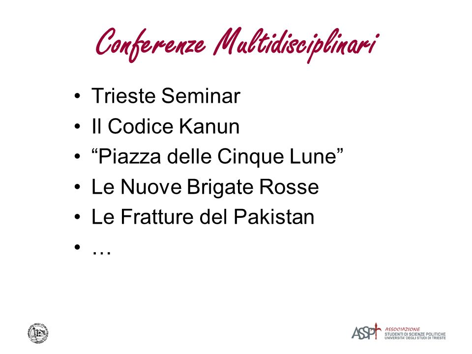 Conferenze Multidisciplinari