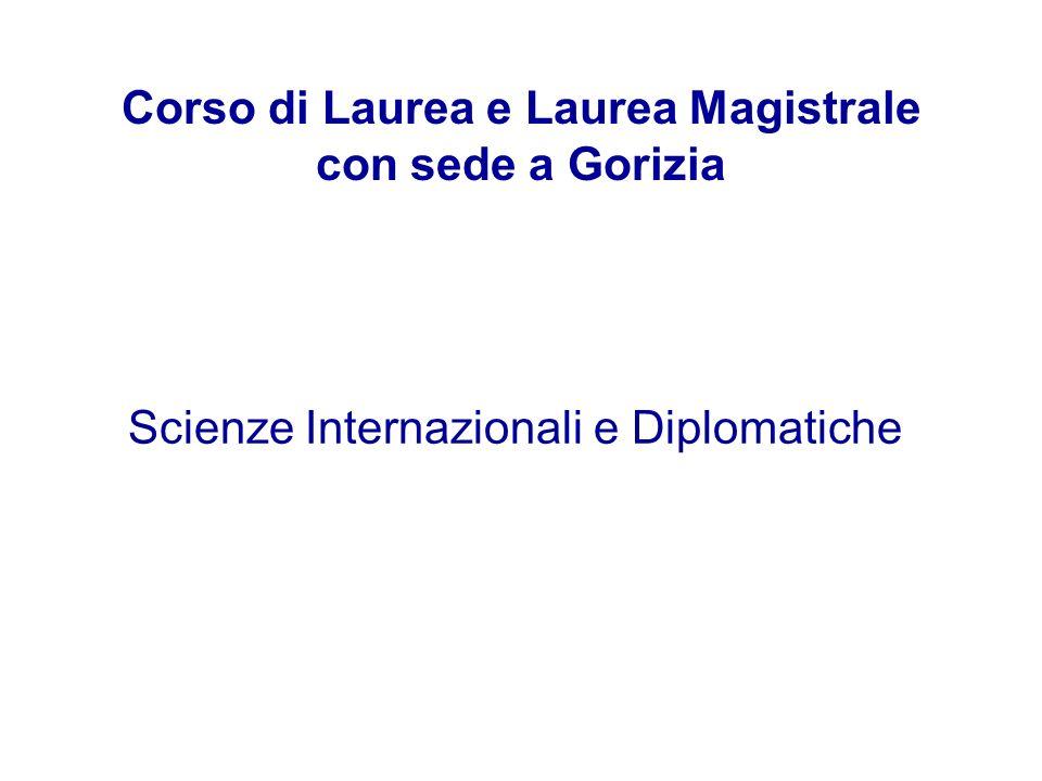 Corso di Laurea e Laurea Magistrale con sede a Gorizia