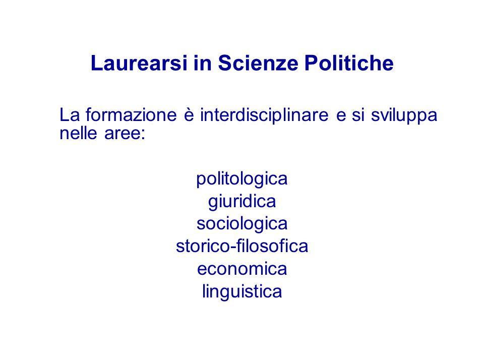 Laurearsi in Scienze Politiche