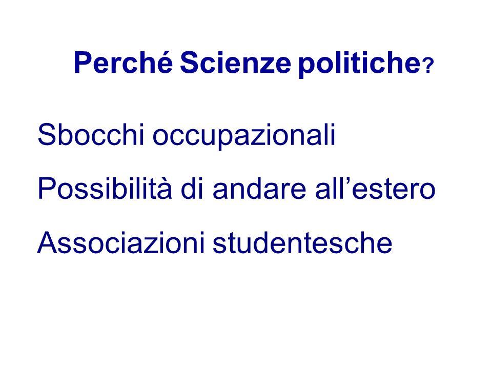 Perché Scienze politiche