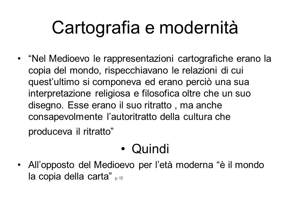Cartografia e modernità