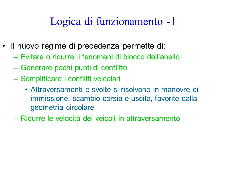 Logica di funzionamento -1