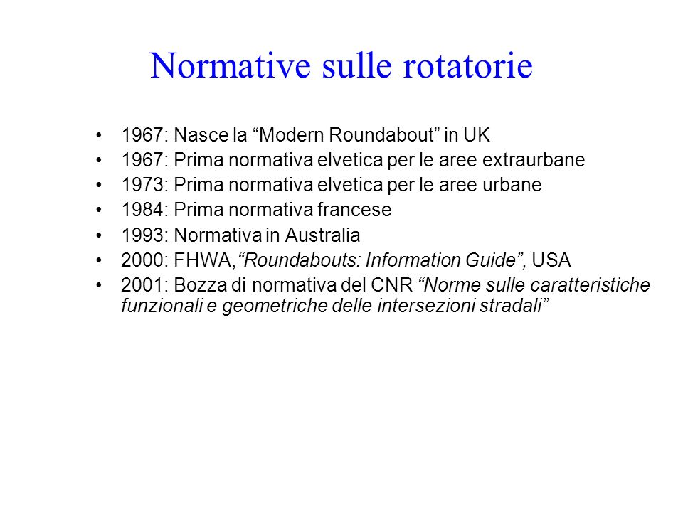 Normative sulle rotatorie