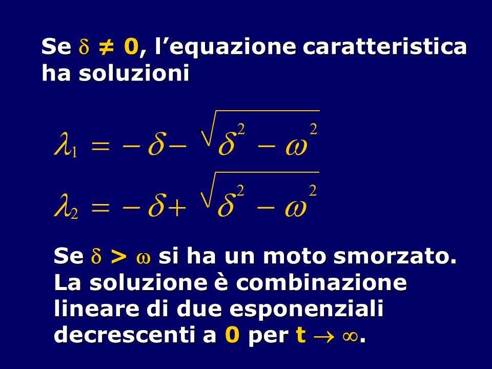 l = - d - d w l = - d + d - w Se  ≠ 0, l'equazione caratteristica