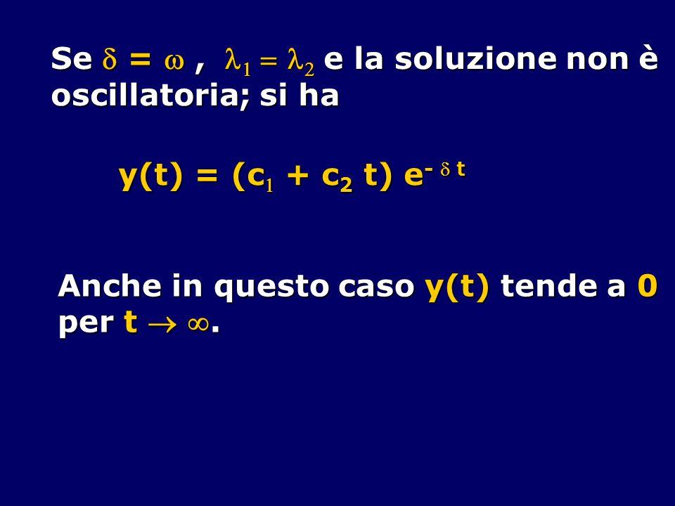 Se  =  ,    e la soluzione non è