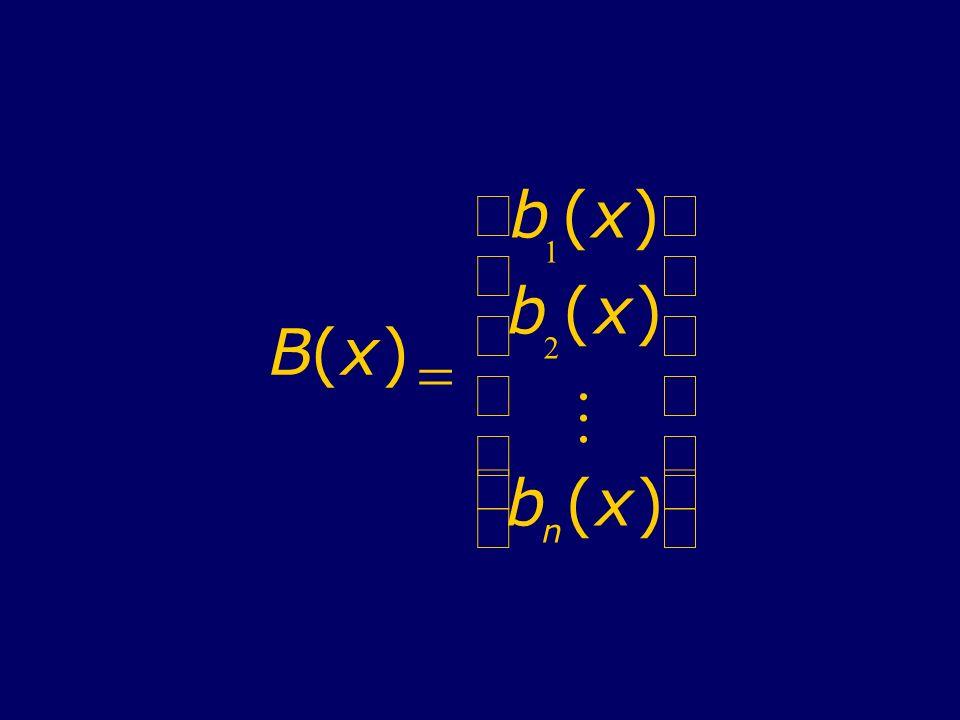 B ( x ) = b 1 2 M n æ è ç ö ø ÷