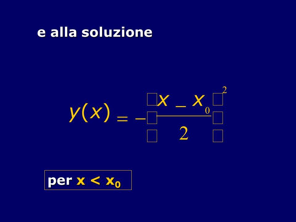 e alla soluzione y ( x ) = - 2 æ è ç ö ø ÷ per x < x0