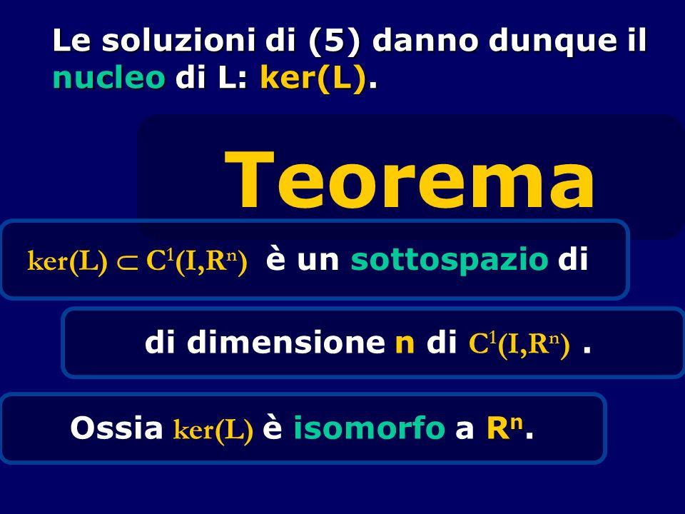 ker(L)  C1(I,Rn) è un sottospazio di