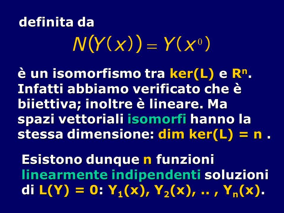 N Y x = ( ) definita da è un isomorfismo tra ker(L) e Rn.