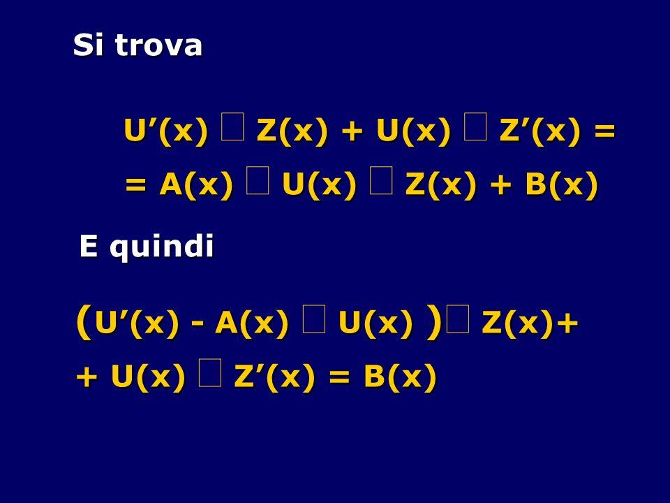 (U'(x) - A(x) × U(x) )× Z(x)+