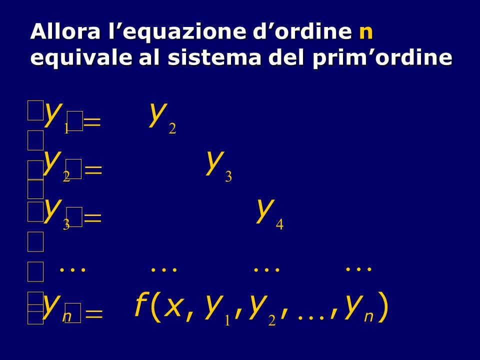 ¢ y = K f ( x , ) ì í ï î Allora l'equazione d'ordine n