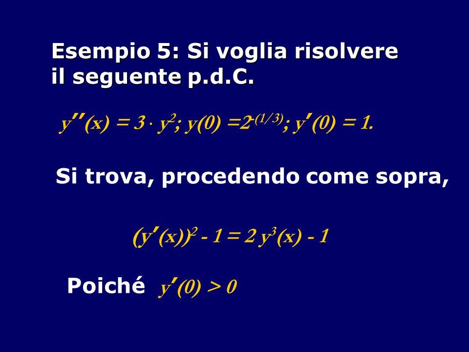 (y'(x))2 - 1 = 2 y3(x) - 1 Esempio 5: Si voglia risolvere