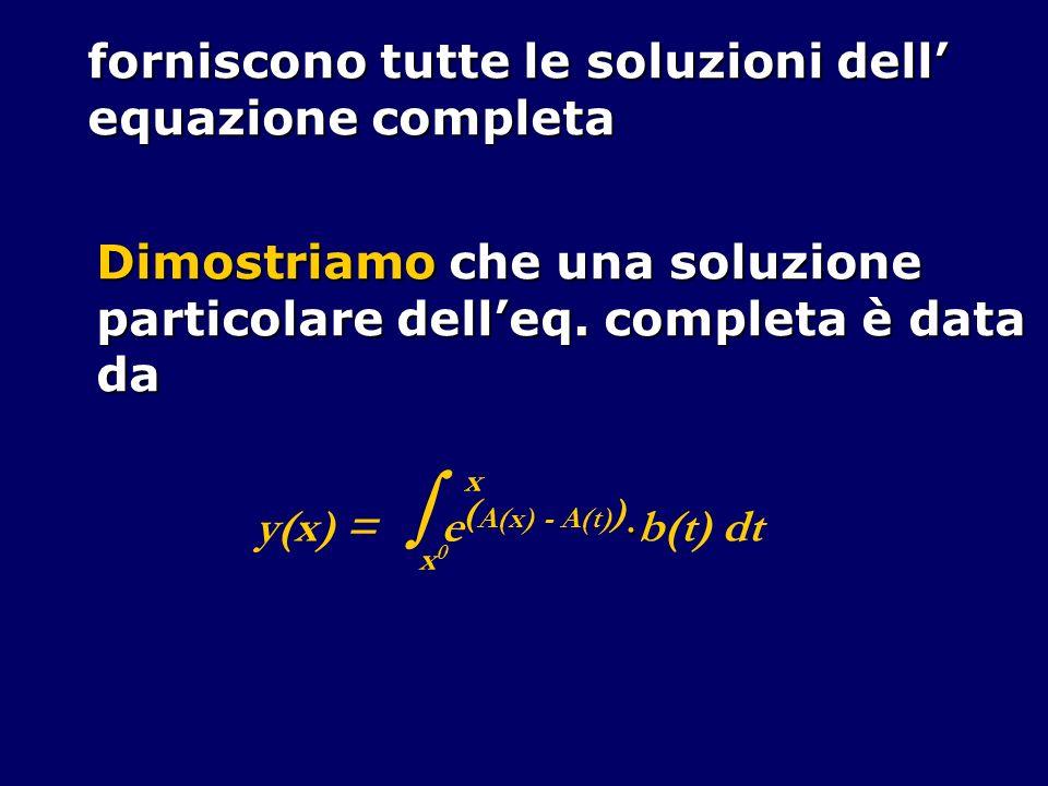 forniscono tutte le soluzioni dell' equazione completa
