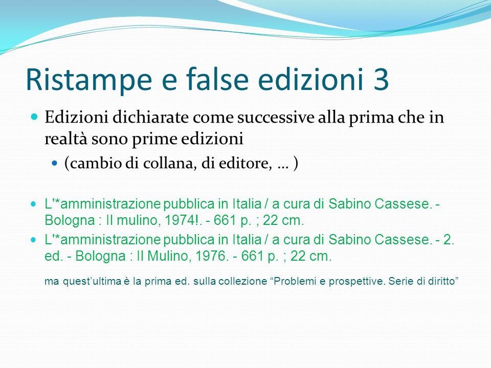 Ristampe e false edizioni 3