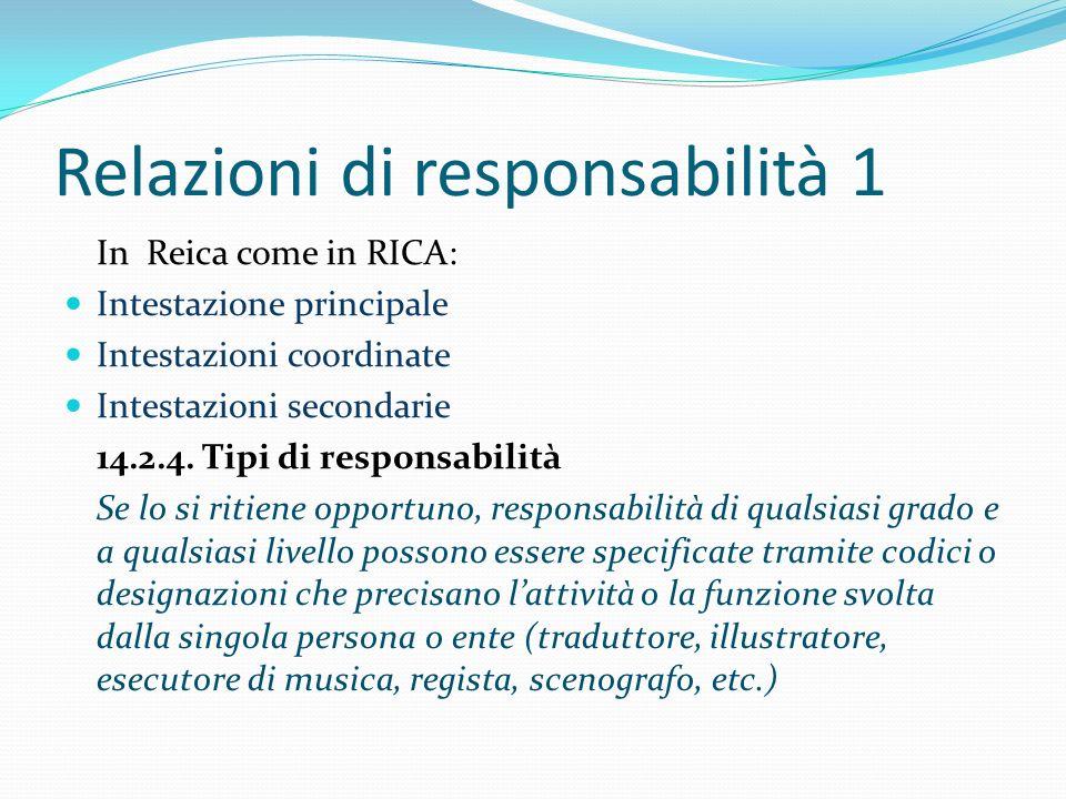 Relazioni di responsabilità 1