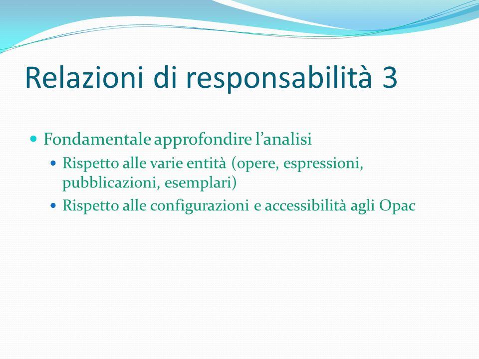 Relazioni di responsabilità 3